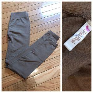 Pink blush brown maternity leggings